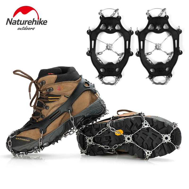 Naturerandonnée neige extérieur antidérapant griffe de glace escalade Crampons hiver randonnée en acier inoxydable dents Stable Crampons durables chaussure