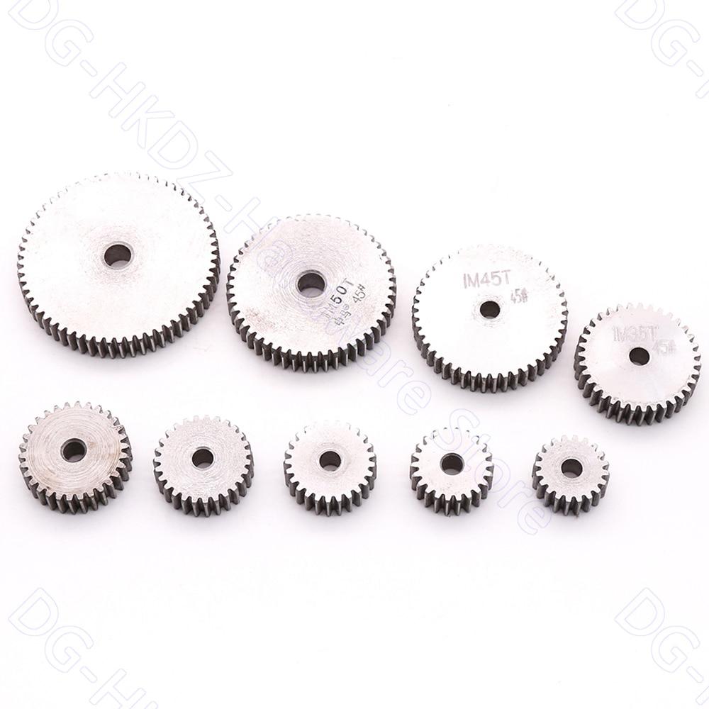 1M Spur Gear 23T-60T Metal Transmission Gear 45# Steel Thick 10mm Pinion 1 Mod 23 24 25 26 27 28 29 30 31 32 35 36-60 Teeth 1pcs