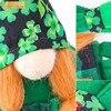2pcs Green Gnome Doll St. Patrick's Day Irish Clover Embroidered Saint Patricks Day Table Decor Spring Decoration 3