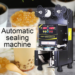 Commercial milk tea soy milk sealing machine automatic paper cup plastic cup sealing machine beverage sealing cup machine 220V