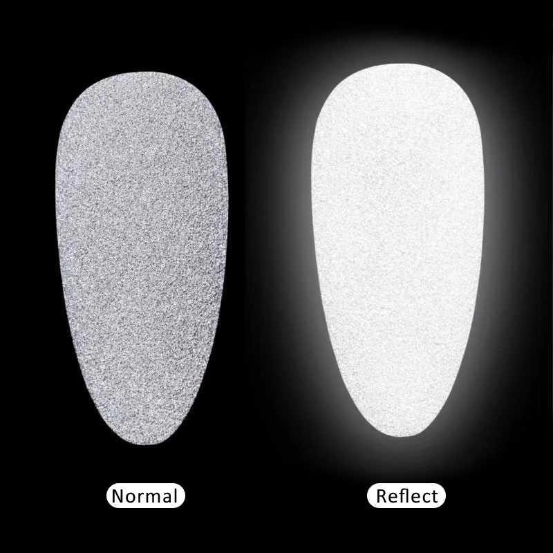 1 กล่องสะท้อนแสงเล็บ Glitter ผงเงาฝุ่น GLOW In The Dark สำหรับบาร์ดิสโก้ประกาย Pigment เรืองแสง Nail Art ตกแต่ง