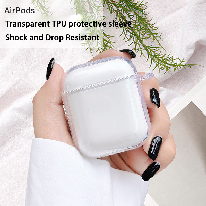 2020 New Style Hard PC Transparent Case Cover For AirPods 1 2 Wireless Earphone Charging Box Cover Bag For Apple AirPods Pro 3