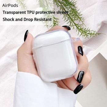 2020 neue Stil Harte PC Transparent Fall Abdeckung für AirPods 1 2 Drahtlose Kopfhörer Lade Box Abdeckung Tasche für Apple airPods pro 3