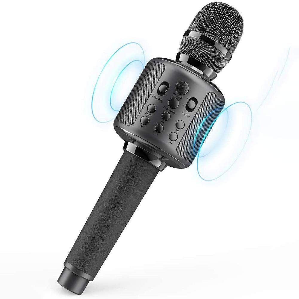 Караоке микрофон беспроводной пение машина с Bluetooth динамик для сотового телефона/ПК, портативный ручной микрофон динамик