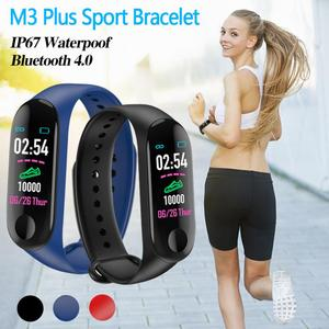 M3 Plus Bluetooth Smart Band Watch Fitness Tracker Bracelet Heart Rate Steps Sports Fitness Bluetooth Sports Bracelet Smartwatch