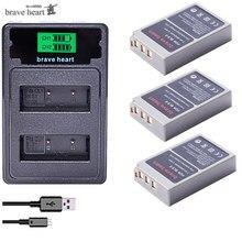 Batería BLS5 PS BLS5 BLS50 de BLS 5 de 2000mAh para Olympus PEN BLS 50, E PL2,E PL5,E PL6,E PL7,E PM2, OM D II, Stylus1