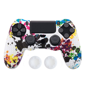 Image 5 - Anti slip Silicone Cover Skin Case for Sony Play Station Dualshock 4 PS4 Pro Slim Controller+ 2 Thumb Stick Grips Caps