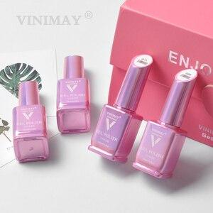 Image 5 - VINIMAY 스킨 핑크 프랑스 젤 네일 폴란드어 베르니 세미 퍼머넌트 UV 젤 폴리쉬 네일 아트 디자인 매니큐어 네일 젤 폴란드어 래커