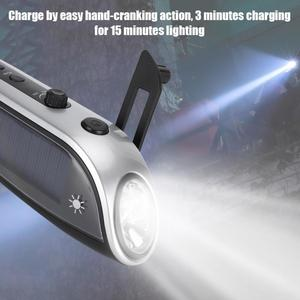 Image 5 - Portable FM Radio Outdoor Solar Hand Crank USB Charging Multifunctional Emergency LED Flashlight for Camping