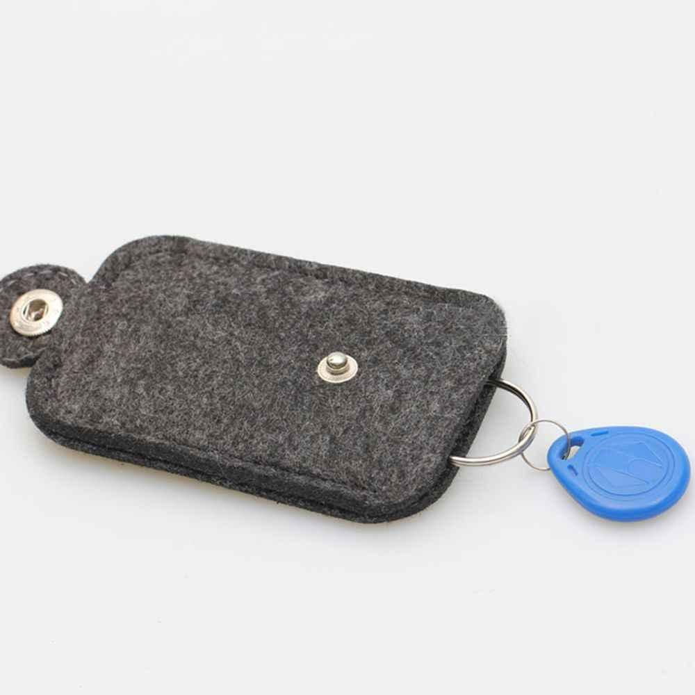 새로운 휴대용 자동차 키 지갑 지갑 남자 여자 모직 펠트 키 체인 키 주최자 편리한 실용적인 파우치 케이스 가방