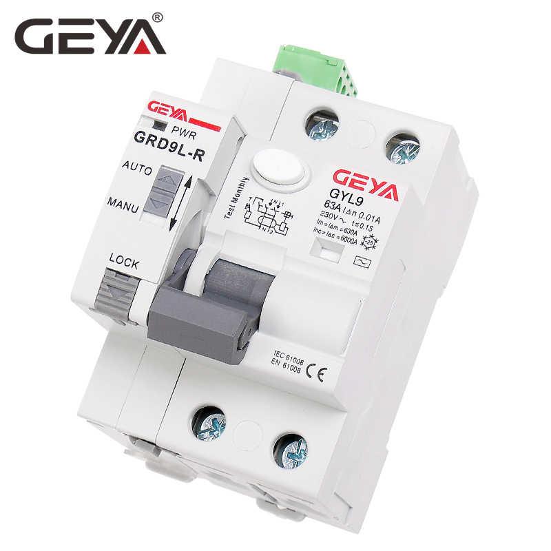 GEYA GRD9L 4 Pole RCCB Recloser Breakers Automatic Reclosing Device Remote Control Circuit Breaker 63A 30mA