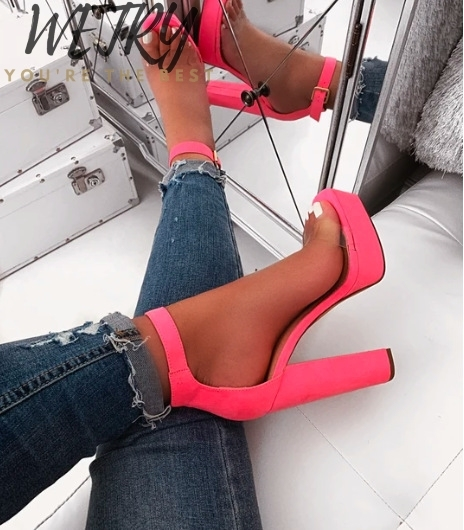 2020 Women Summer Platform Pump Shoes Woman round Toe High Heel Shoes Woman Party Wedding Shoe High Heels Pumps Chaussure