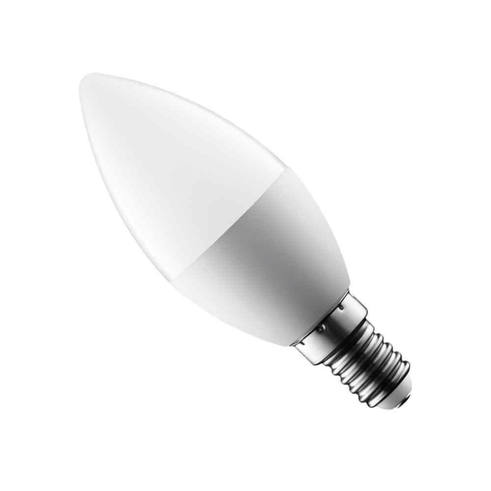 Lilin LED Bohlam E14 E27 3W 7W 9W Hemat Energi Lampu Sorot Hangat/Dingin Putih Tempat Lilin Kristal lampu Ampul Bombilla Rumah Candle Light