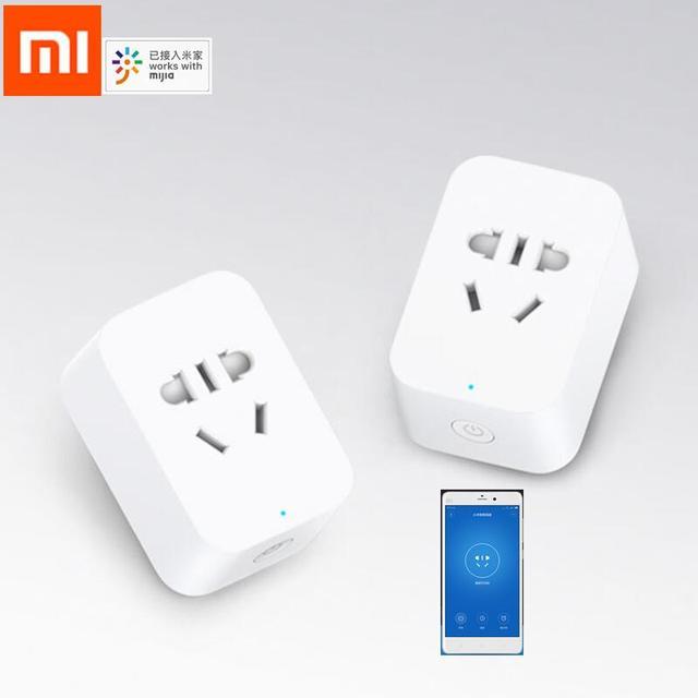 Nouveau Xiaomi Mijia prise intelligente 2th Bluetooth passerelle Version sans fil télécommande prises adaptateur alimentation marche et arrêt avec téléphone
