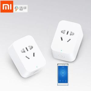 Image 1 - חדש Xiaomi Mijia חכם שקע 2 Bluetooth Gateway גרסה אלחוטי שלט רחוק שקעי מתאם כוח לסירוגין עם טלפון