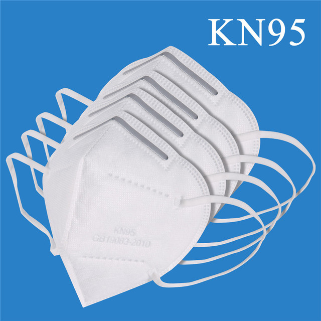 10pcs Medical N95 Mask Anti Air Dust Face Mask Mouth 95% Filtration Windproof Proof Flu Masks Protective Respirator Reusable 4