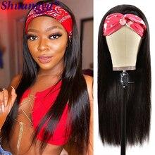 Headband Wig Straight Human Hair Wig Indian Remy Full Machine Made Wigs 28 Inch Wig Bone Straight Human Hair Wig Shuangya Hair