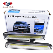 2Pcs Ultra Bright LED Daytime Running lights DC 12V 15.5cm Waterproof Auto Car DRL COB Driving Fog lamp sncn led fog lamp for ford fiesta 2009 2016 with daytime running lights drl 12v high brightness