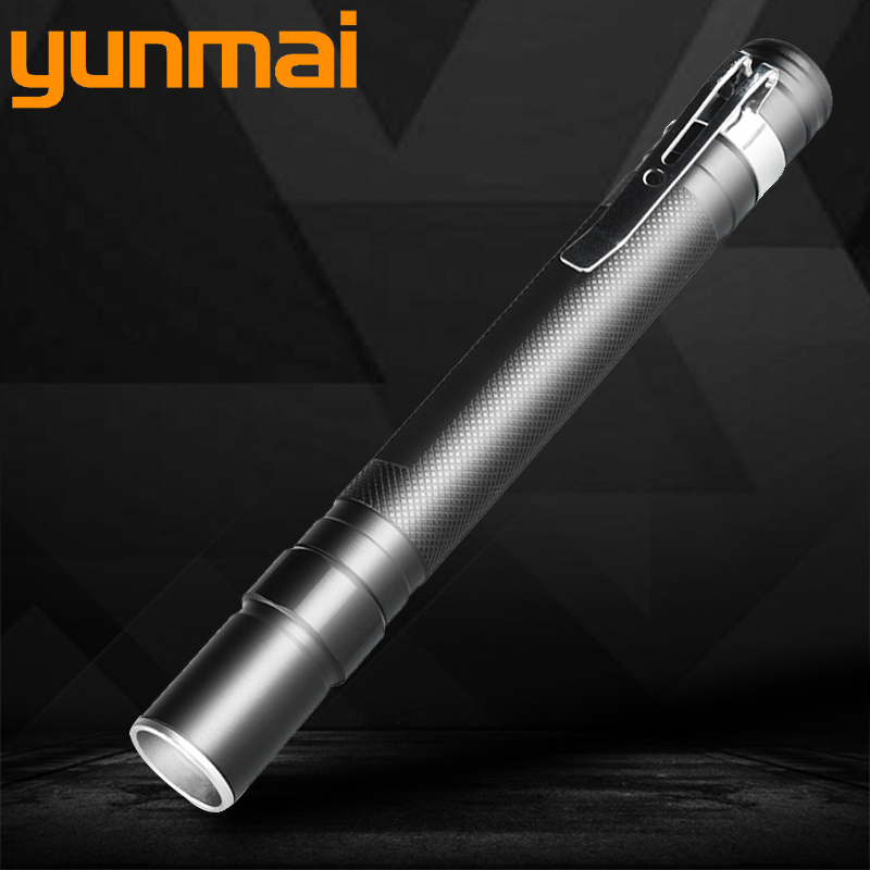 Powerful Waterproof LED Flashlight Torch Lanternas Switch Single Mode On / Off Zoomable AAA Battery Portable Lights For Camping