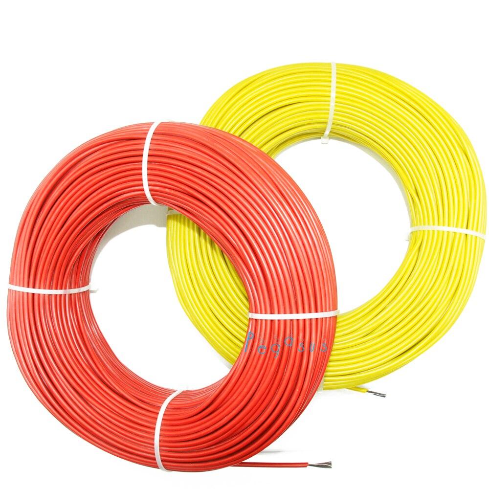 10 м-100 м 33 Ом силиконовая резина HRAG углеродное волокно нагревательный кабель 5 В-220 В Напольное отопление высокое качество инфракрасный нагре...