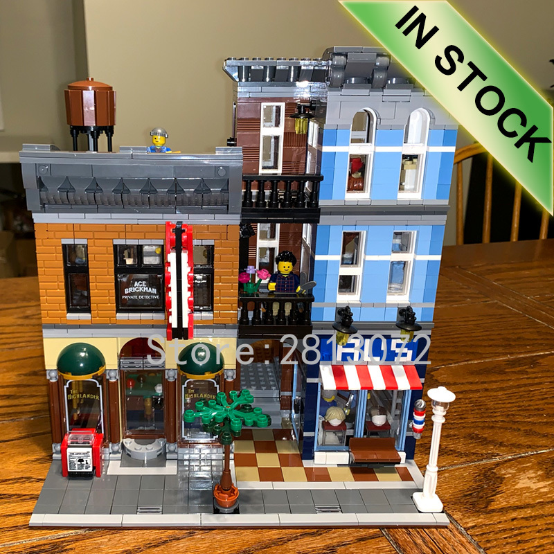 10246 Creator Detective Office 15011 2262Pcs Street View Model Building Kits Blocks Bricks Education Toys