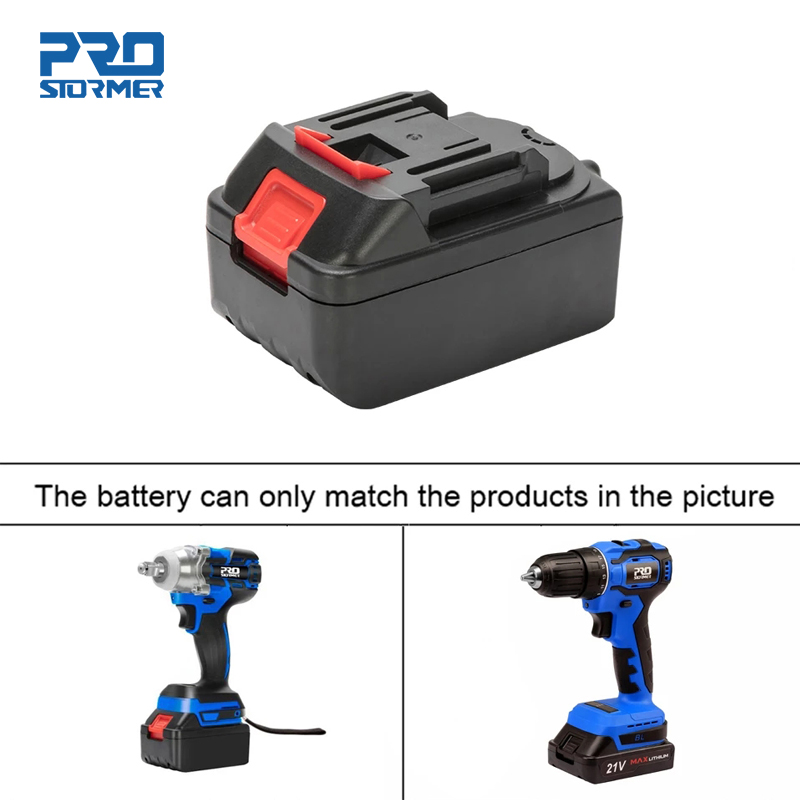 PROSTORMER Electric Wrench Battery 21V 4000mAh Fast Charging Li-ion Battery for 21V Cordless Wrench