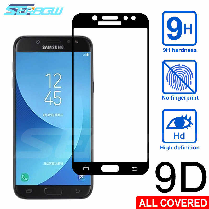9D Full Cover Tempered Glass For Samsung Galaxy J3 J5 J7 2016 2017 S7 Screen Protector J2 J4 J6 J8 2018 Safety Protective Film