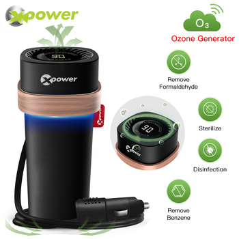 XP Ozone Generator Car Air Purifier 12V O3 GEN Clean Virus Sterilizer Odor Eliminator Deodorizer for Cars Ozonator