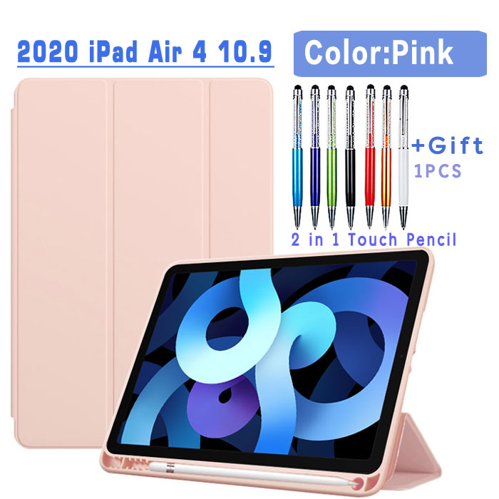 Flip Case-Pink Blue Magnetic Case For iPad Air 4 2020 10 9 inch flip case with Pencil Holder For