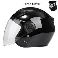 Motorcycle Helmets Electric Bicycle Helmet Open Face clear Lens Visors Men Women Summer Scooter Motorbike Moto Bike Helmet