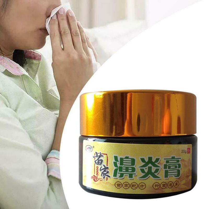 20ml Nasal Ointment Sinusitis Cold Caused By Nasal Congestion Nasal Itching Cream For Acute Chronic Rhinitis Allergic Rhinitis