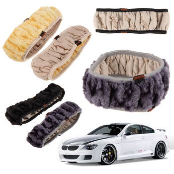 VODOOL Soft Plush DIY Car Steering Wheel Cover Universal Winter Warm Auto Steering-wheel Covers Supplies Car Styling Accessories image