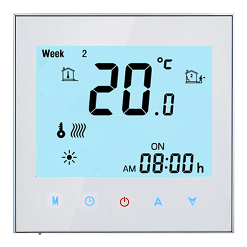 Thermostat WiFi Heating System Central Air Conditioning Thermostat 4 Tube 3 Wind Speed with WIFI Voice Function|Air Conditioner Parts| |  - title=