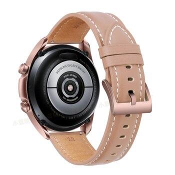 Ремешок для часов кожаный, 20-22 мм 4
