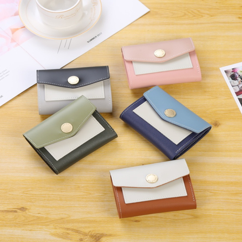 2019 Fashion Retro Women Wallet For Credit Cards Small Luxury Brand Leather Short Womens Wallets And Purses Carteira Feminina
