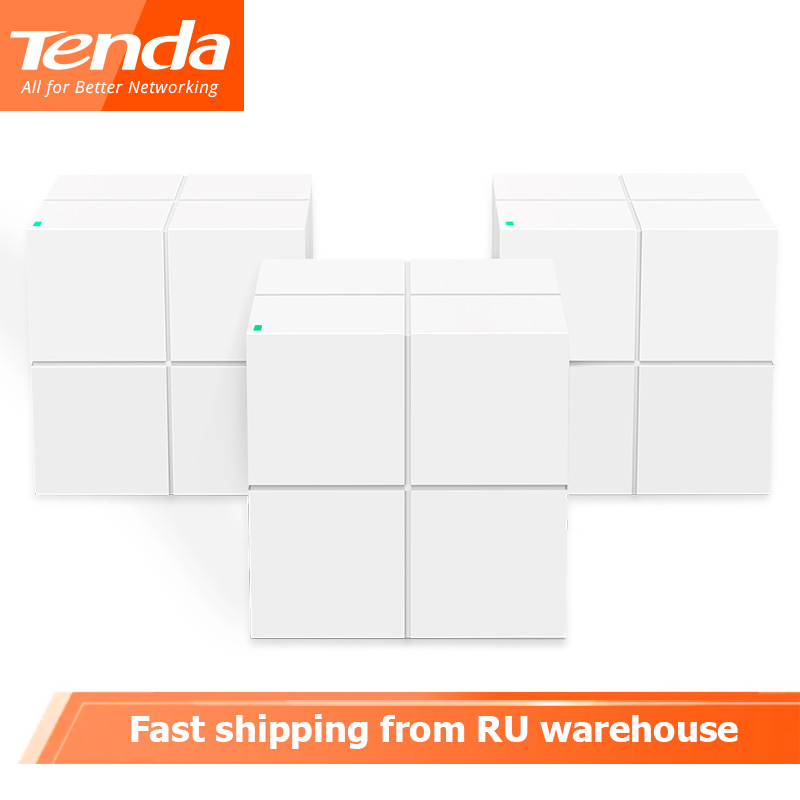 Tenda Nova MW6 Wireless WiFi Router Whole Home Mesh Gigabit WiFi System Dual Band 11AC 2.4G/5.0GHz Repeater APP Remote Manage
