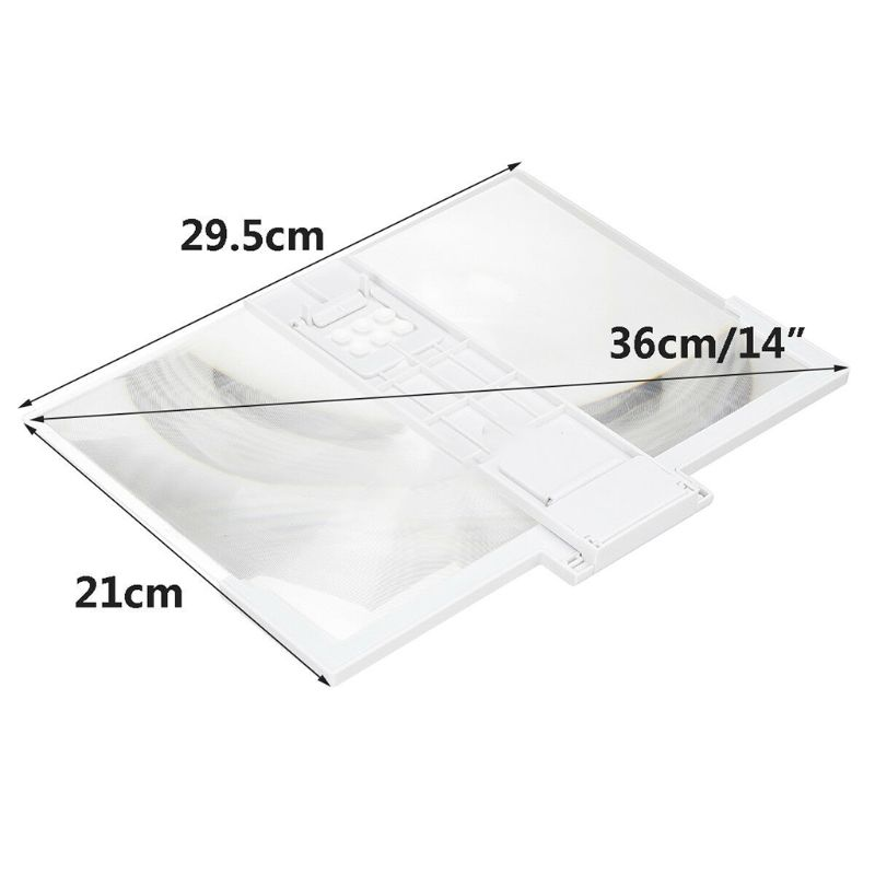 14 Inch High Definition Folding Screen Amplifier Phone Magnifier Stand Holder 2
