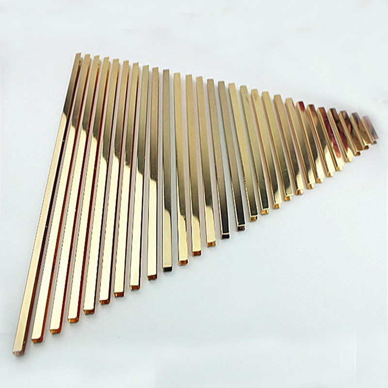 3.2 Inch (8 Cm) Straight Purse Edging Wallet Frame Wallet Edging Metal Edging Strip Light Gold