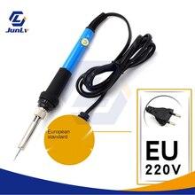 Регулируемый температура электрический паяльник утюг рабочая станция мини ручка нагрев карандаш 60 Вт пайка ремонт инструменты 110V220V60W% 2C EU US