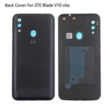 Original Glass Rear Cover For ZTE Blade V10 Vita Back Battery Cover V10 Vita Case Housing Door With Camera Lens Adhesive