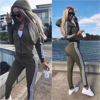 Donne Set Top E Pantaloni di Usura Delle Donne Nuovo Vestito di Sport 2 Pezzi