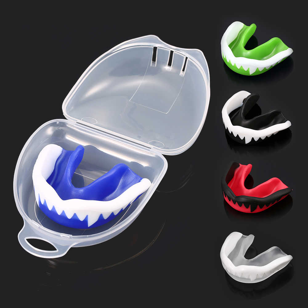 Muay Thai Mouthguard EVA Teeth Protector Mouth Guard for Boxing Basketball #8Y