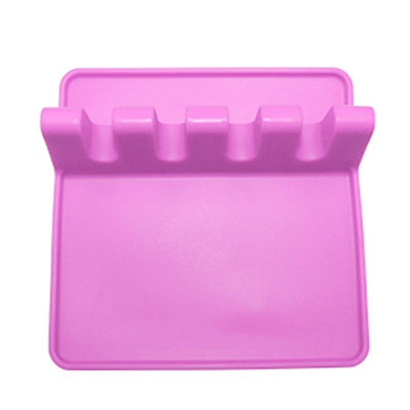 Kitchen Utensil Holder Silicone Spoon Spatula Rack Shelf Portable Multipurpose Stand PAK55