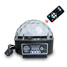 9 Couleurs 27W kristal Magic Ball Led sahne lambası 21 modları disko lazer ışığı parti işıkları ses