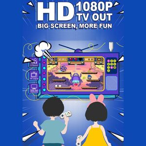 Image 4 - 2 لاعبين 1080P اللاسلكية التلفزيون لعبة فيديو وحدة التحكم مع 638 ألعاب صغيرة مزدوجة غمبد