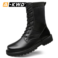 Fashion Shoes 2019 Men Snow Boots Erkek Botlar Genuine Leather Work Shoes High Top Military Boot Lace up Warm Sneakers Men 37 50