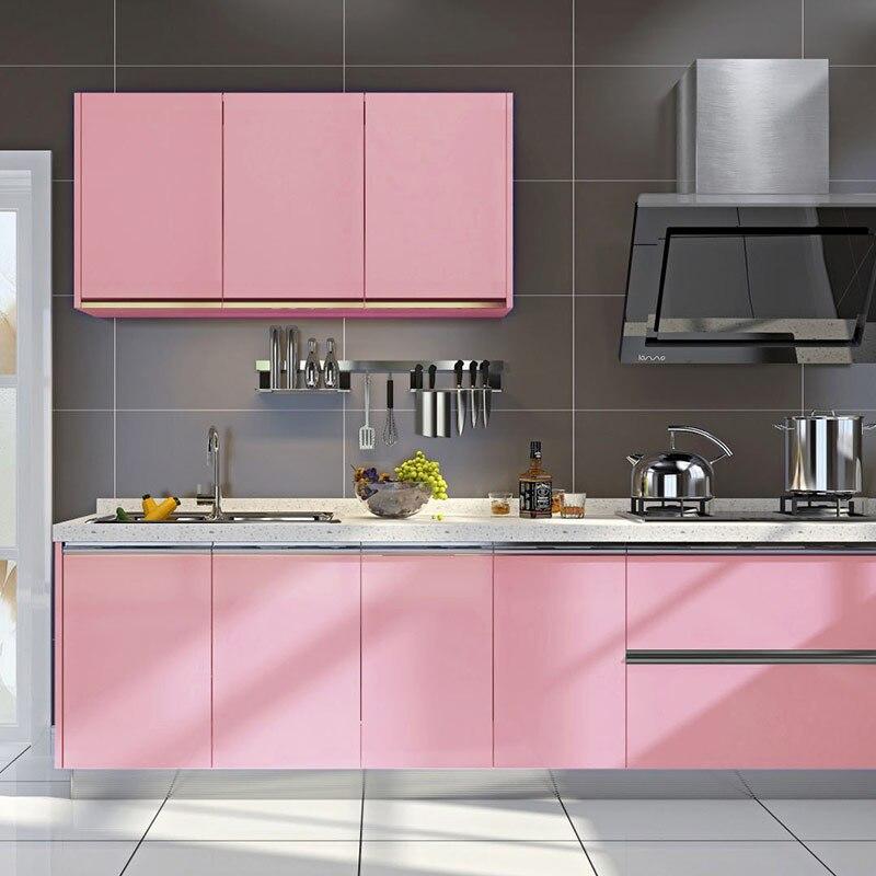 Декоративная пленка «сделай сам», самоклеящаяся пленка из ПВХ, жемчужно белый цвет, стикеры для обновления мебели, кухни, кабинета, водонепроницаемые обои Обои    АлиЭкспресс