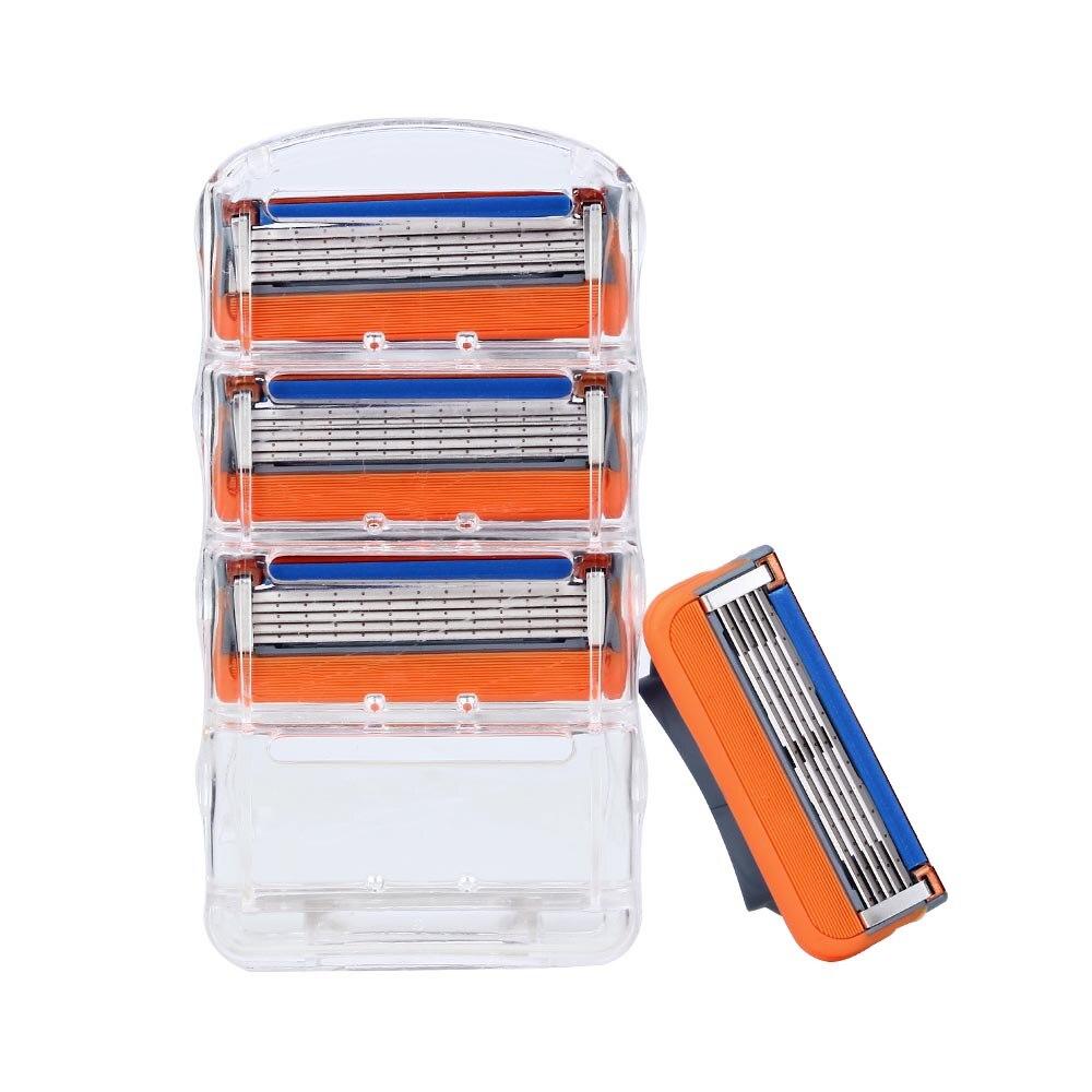4pcs/lot Razor Blade For Men Shaving Blades Safety Blades Cassette Shaver Suit For Gillettee Fusion Proglide