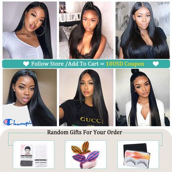 Allove Straight Lace Front Human Hair Wigs Remy 360 Lace Frontal Wig 13X4 13X6 Brazilian Straight Lace Front Wig 250 Density 6