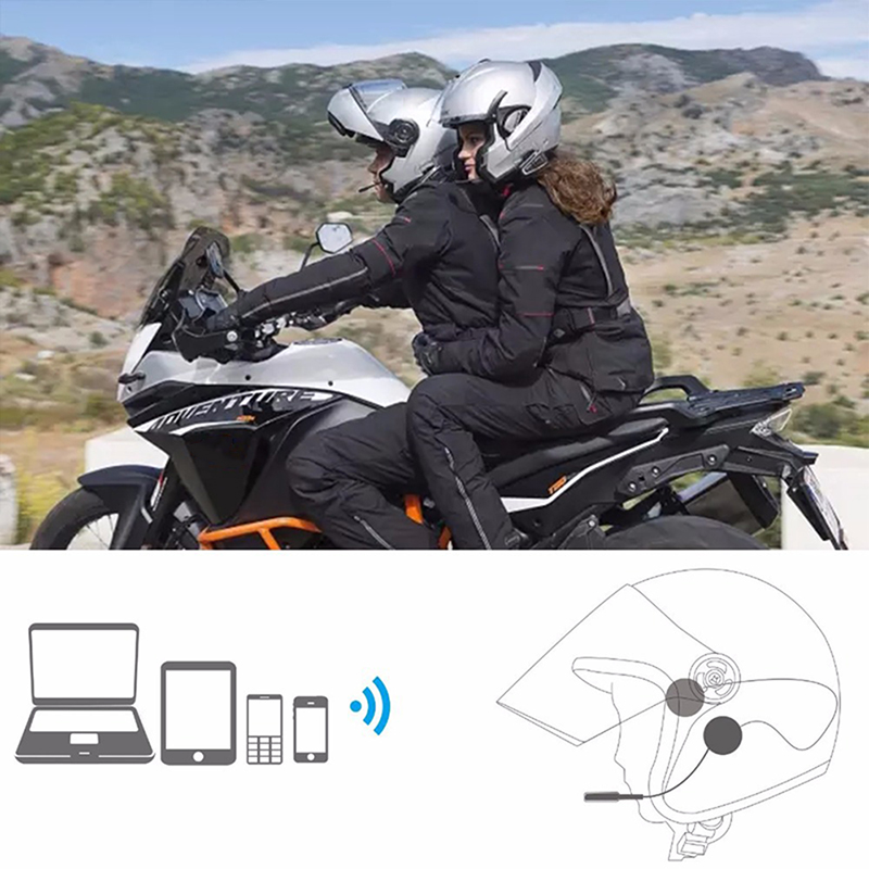EDR Headphone Motorcycle-Accessories Bluetooth Anti-Interference Free for Helmet Riding-Hands